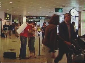 Llegada programa AFS extranjero en el aeropuerto
